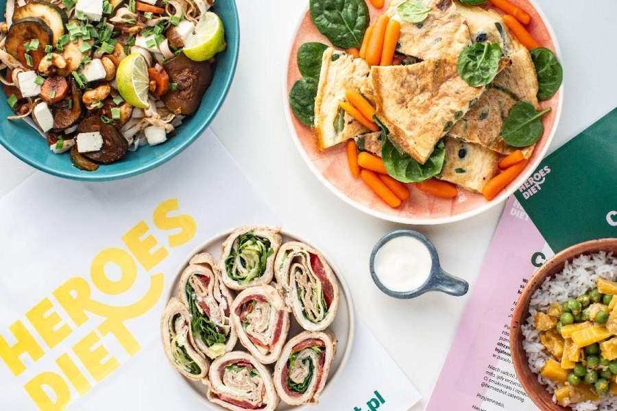 Przykłady dań z diety pudełkowej od Heroes Diet
