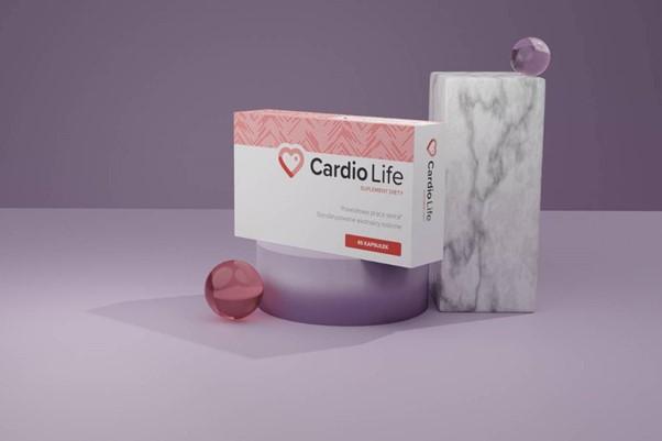 Opakowanie suplementu diety Cardio Life.
