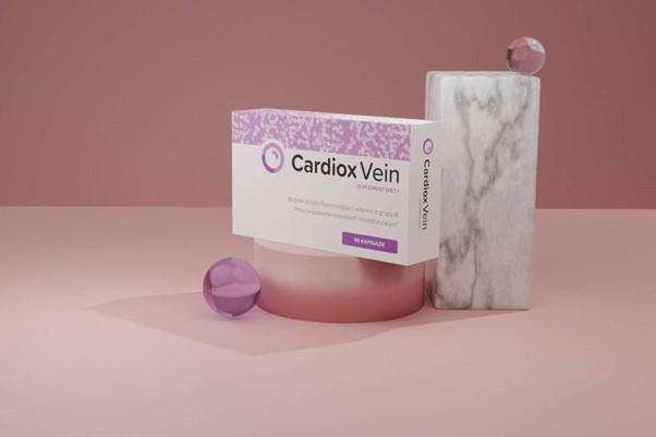 Opakowanie suplementu diety Cardiox Vein.