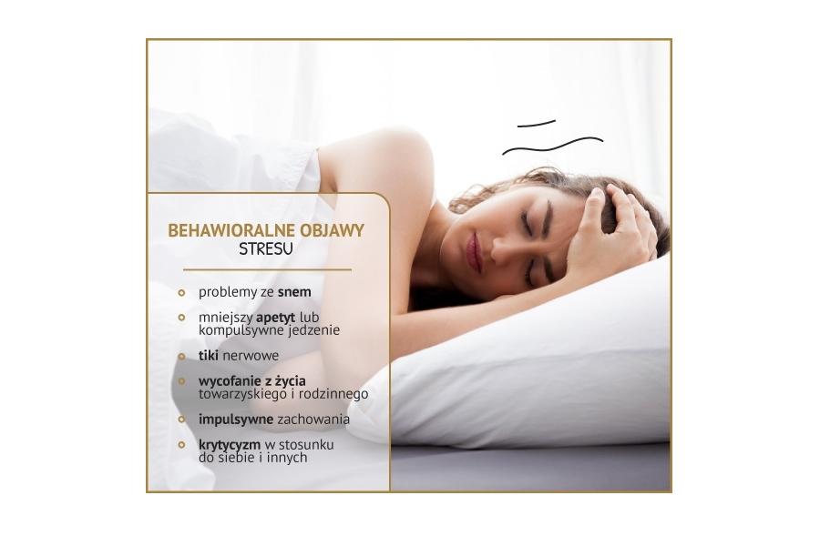 Charakterystyczne behawioralne objawy stresu