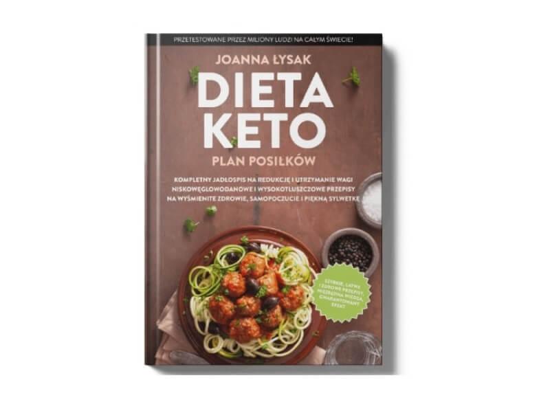 Okładka ebooka Dieta Keto autorstwa Joanny Łysak.