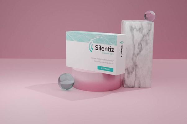 Opakowanie suplementu diety Silentiz.