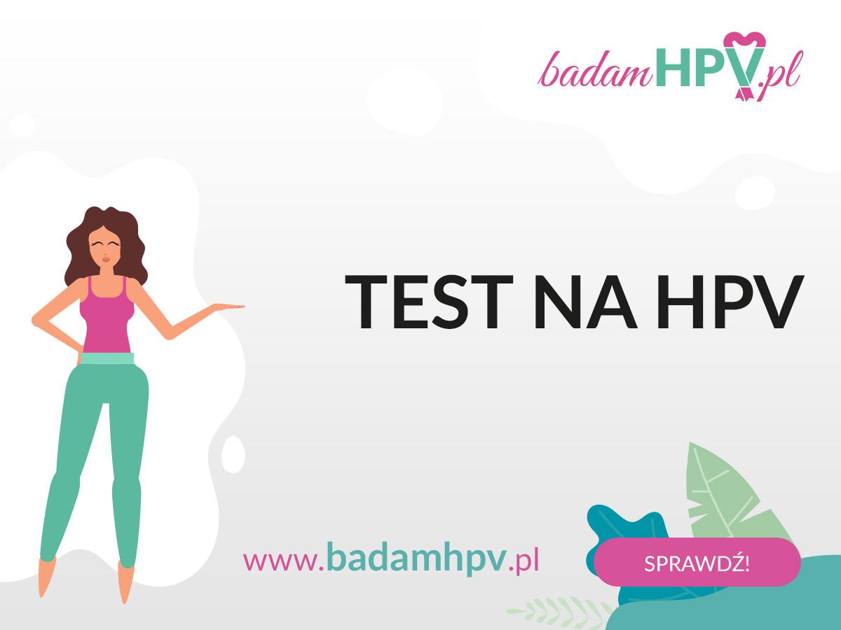 Grafika przedstawiająca informacje o stronach WWW na temat testów na HPV.