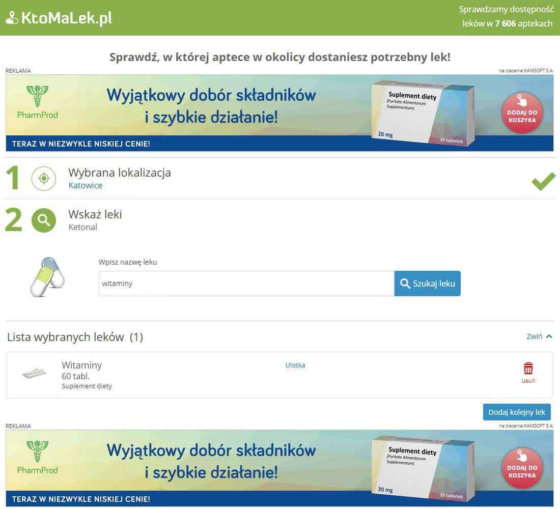 Przykład bannerów reklamowych na stronie głównej